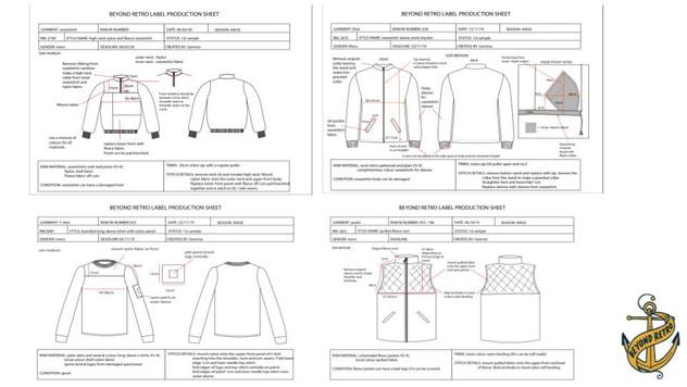 Menswear Spec Sheets
