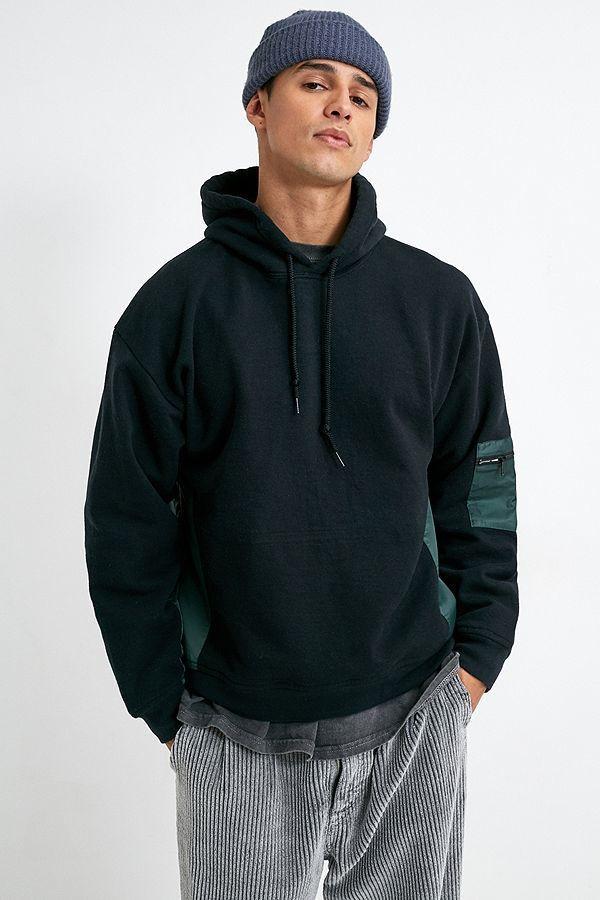 Nylon Panel Sweatshirt