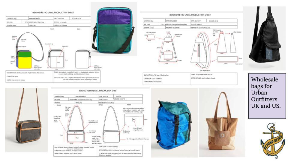 Bag Spec Sheets