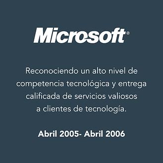 Reconocimientos AT-MICROSOFT 2005-2006_R