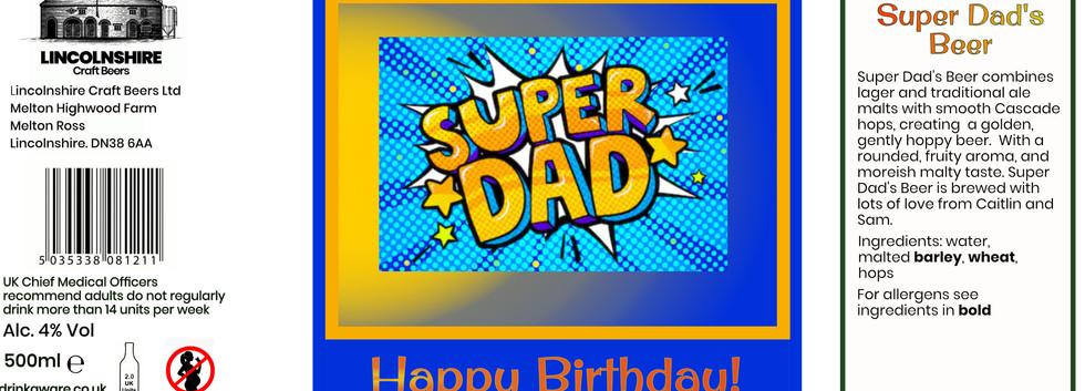 Super dad label