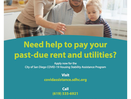 City of San Diego COVID-19 Housing Stability Assistance Program Announced!