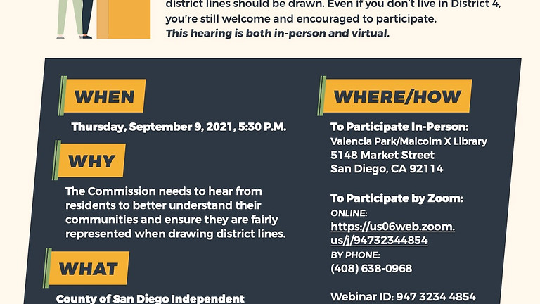 COSD IRC Public Hearing - County Supervisorial District 4
