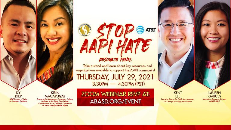Stop AAPI Hate Resource Panel