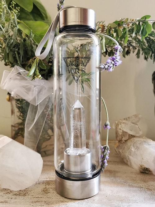 Botella Cuarzo Cristal Acero Inoxidable