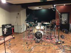 Grabación baterías en Sala A