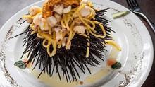 Chef Marco Porceddu: Ricetta Spaghetti ai ricci di mare - Spaghetti with sea urchin recipe.