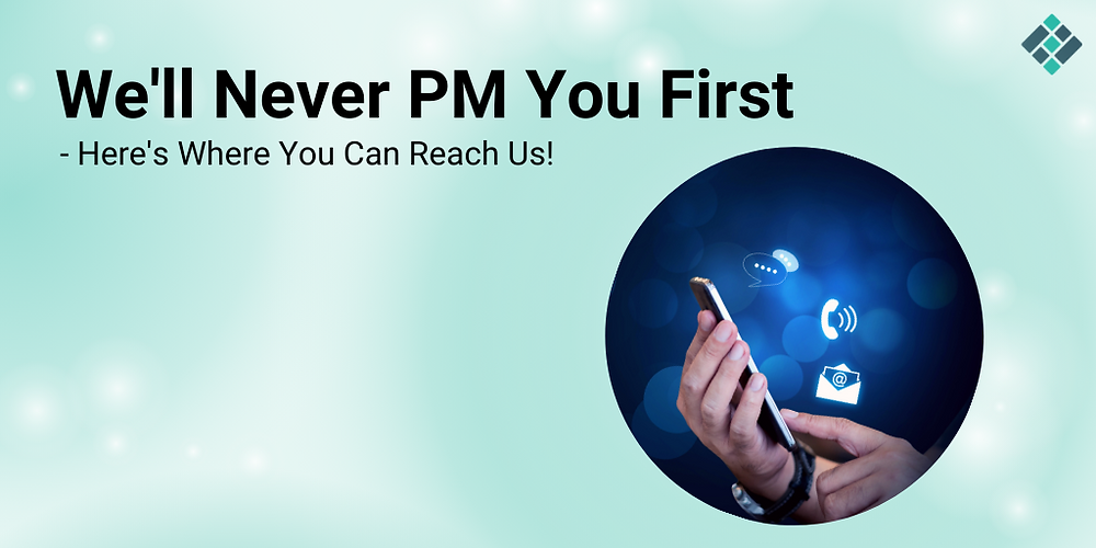 Eidoo Will Never PM You First — Here's Where You Can Reach Us!