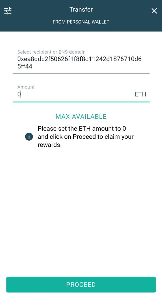 eidoo wallet PNT ETH claim rewards