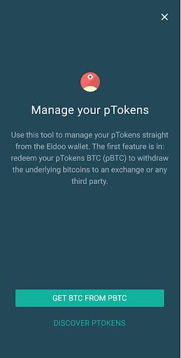 eidoo wallet manager your ptokens