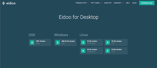 Eidoo wallet for desktop