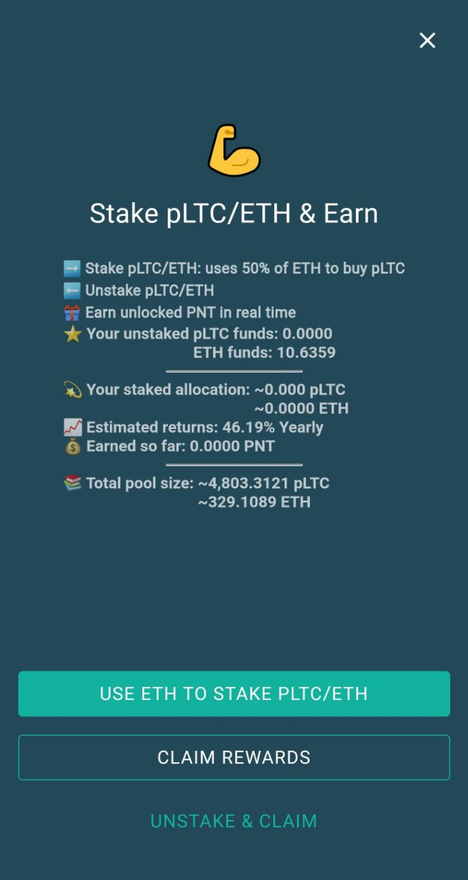 eidoo wallet pLTC unstake