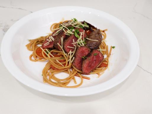 Pasta Pomodoro With Steak