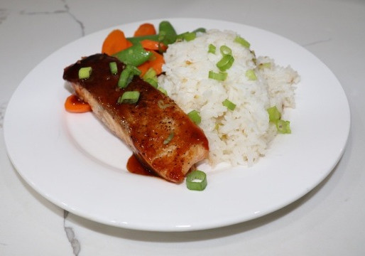 Seared Salmon & Sweet Chili Glaze