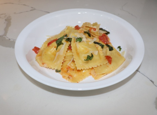 Dinnerly Garlicky Caprese Ravioli