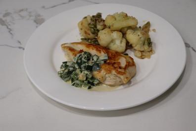 Home chef Recipe Chicken with Poblano Cr