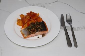 Home Chef Recipe Garlic Piccata Salmon.j