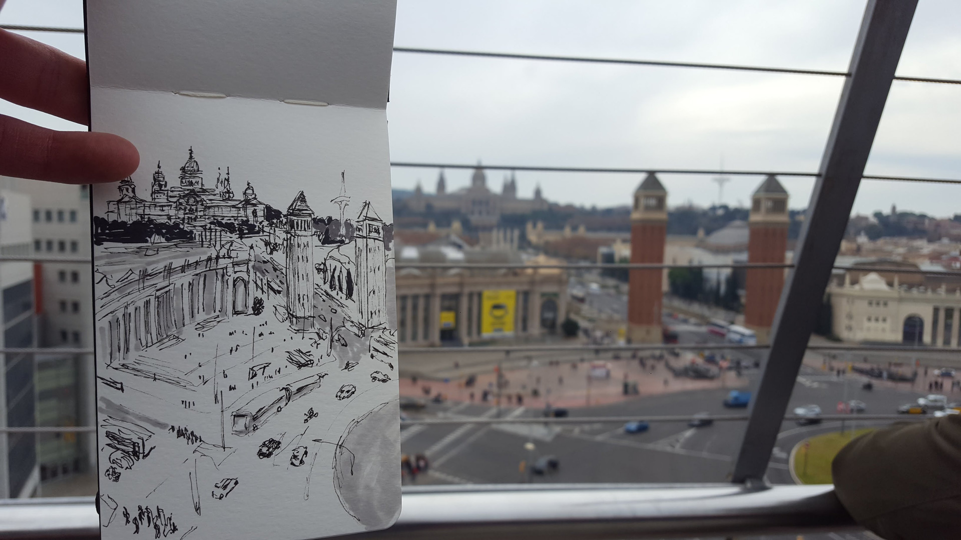 VIEW FROM ARENAS DE BARCELONA