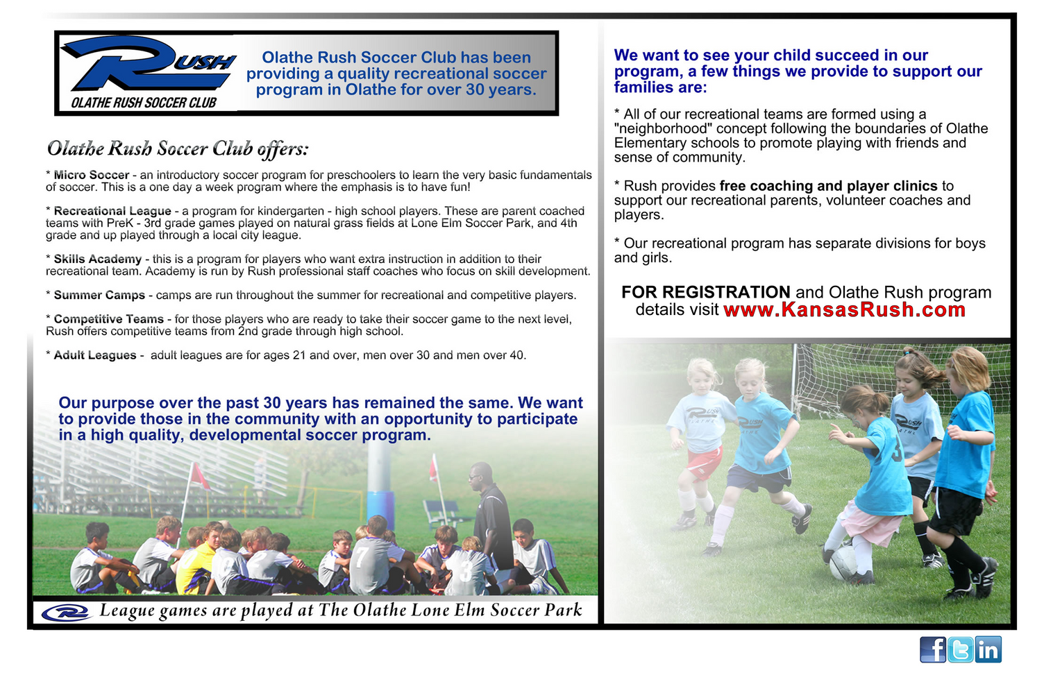 Rush Soccer Post Card