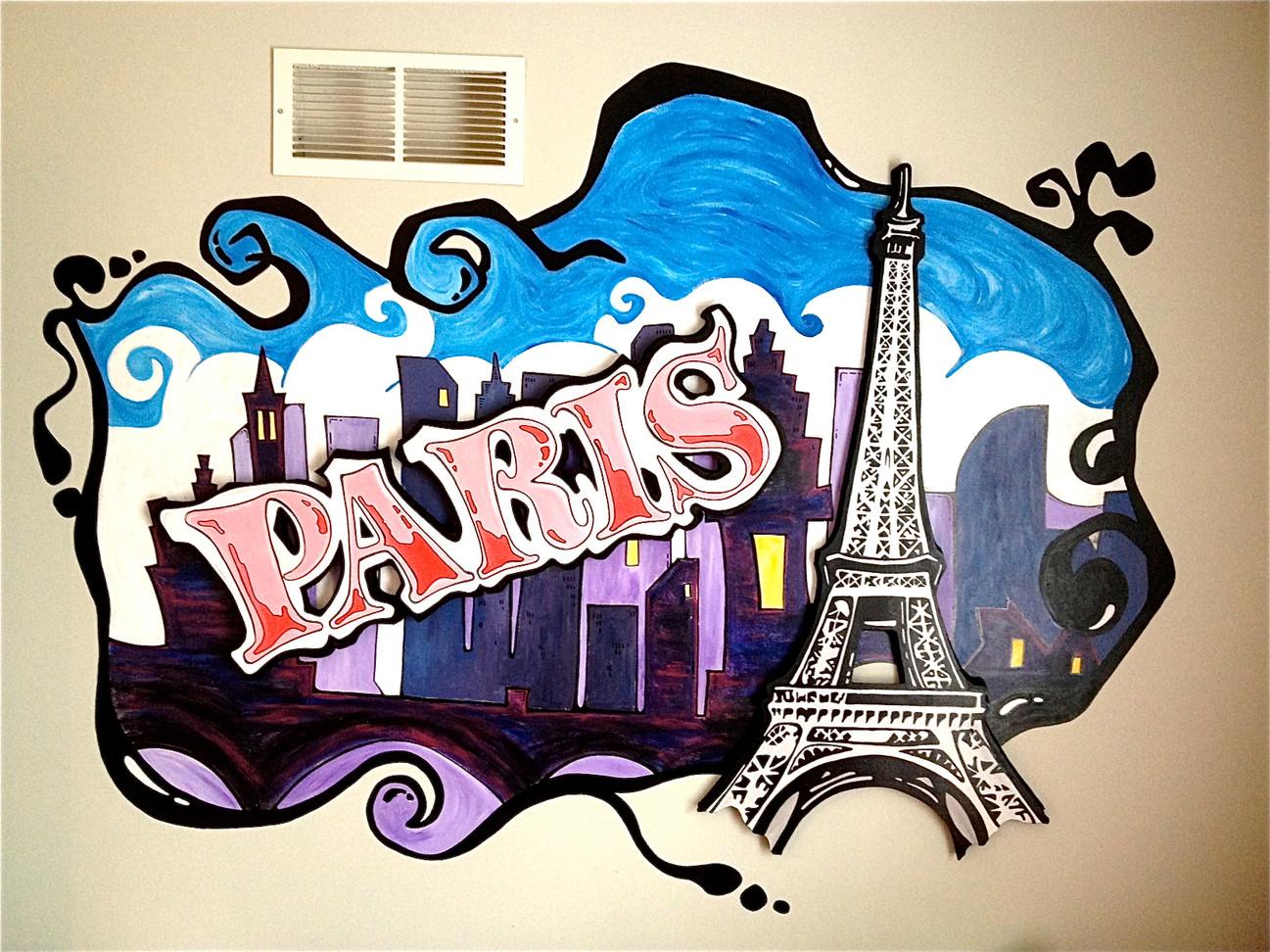 Paris - Dimensional Mural