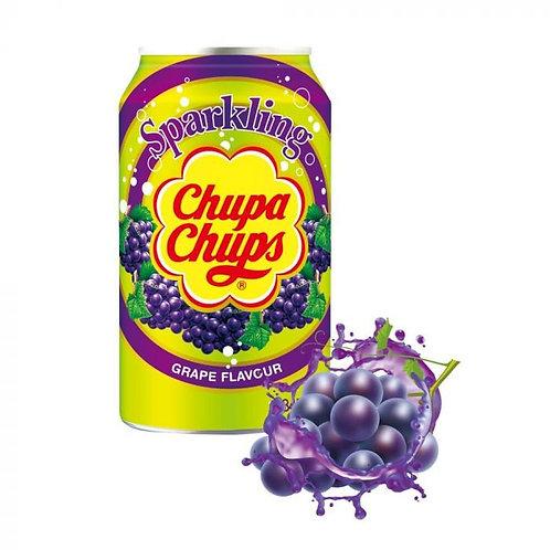 Chupa Chups Sparkling Grape Flavour Soft Drink Cans 345ml