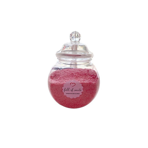 Raspberry Crystal Sherbet Jar