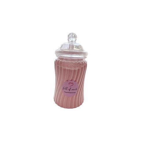 Cream Soda Crystal Sherbet Jar