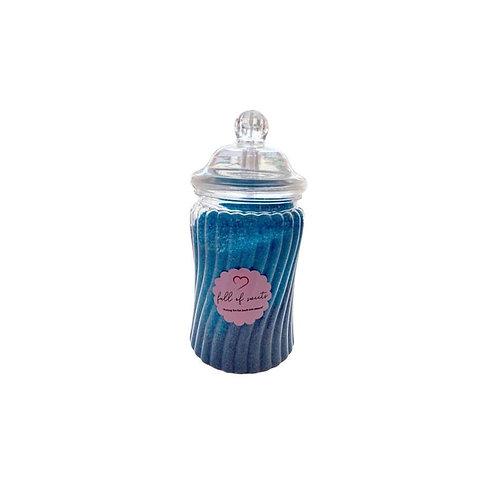 Blue Crystal Sherbet Jar