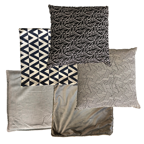 Black & Grey Scatter Pillows