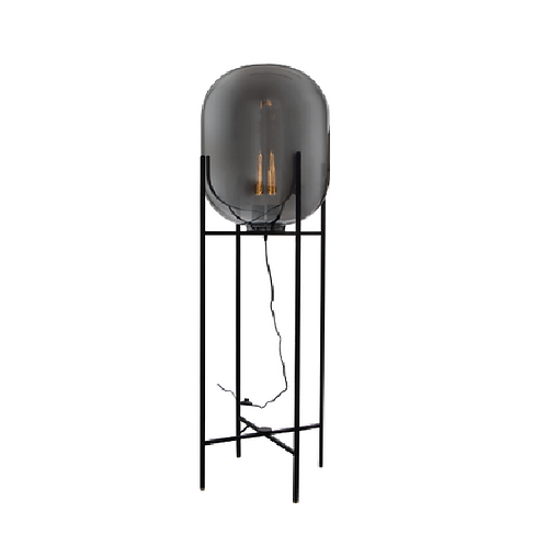 Dixon Floor Lamp - Grey & Black