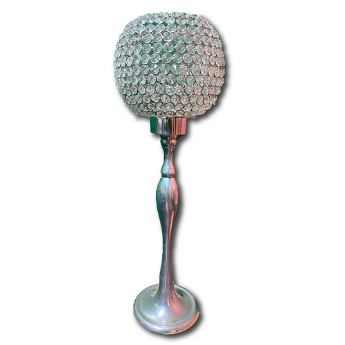 Crystal Ball Pillar Candleholder -Short (44cm)