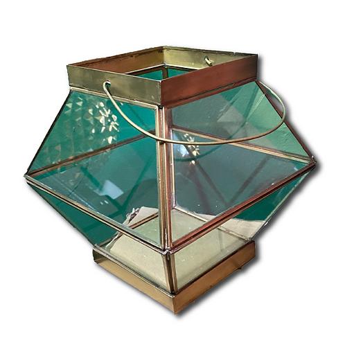 Fat Geometric Lantern -Gold