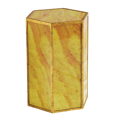 Marble Side Table -Amber