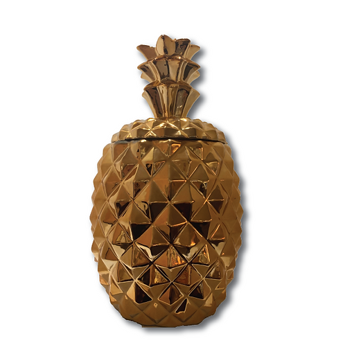Ceramic Pineapple Jar - Rose Gold