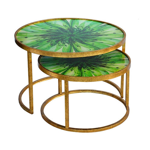 Nesting Coffee Table - Green
