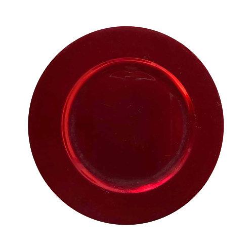 Round Underplate - Red