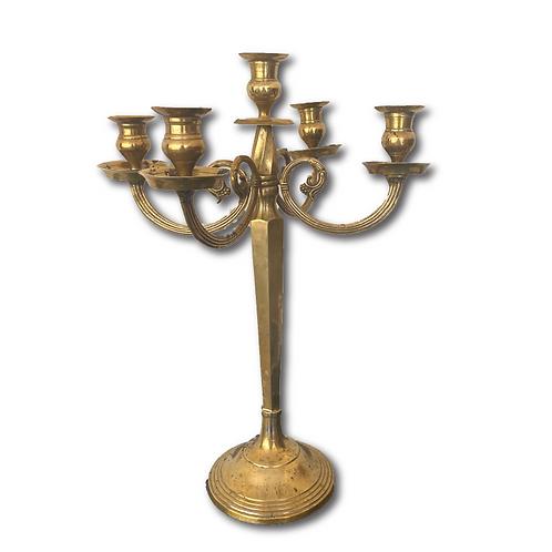 Brass Candelabra 5-Arm -Gold (52cm)