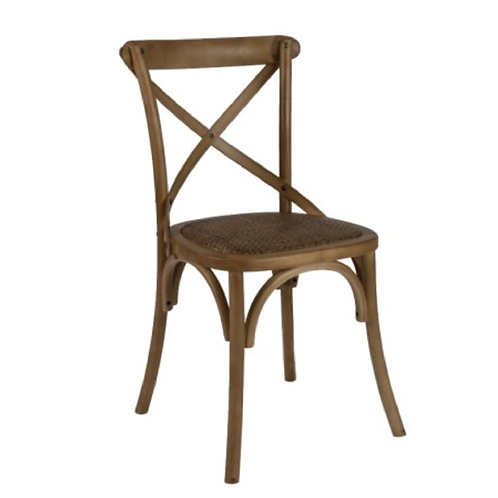 Cross Back Chair - Wood