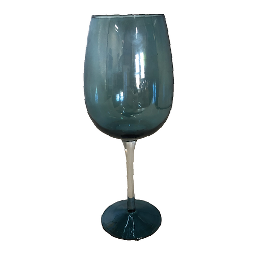 Wine Goblet Glass - Blue
