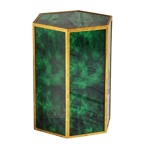Marble Side Table -Emerald Green