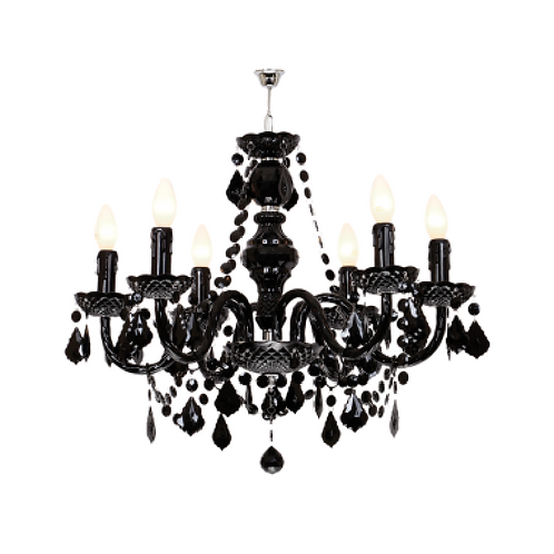 Crystal Chandelier - Black