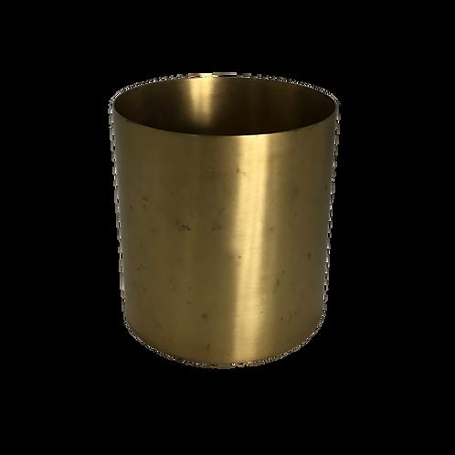Metallic Cylinder Vase - Gold