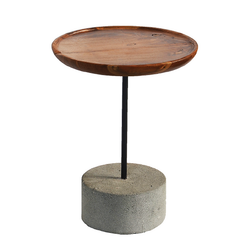 Concrete Side Table - Cylinder Base