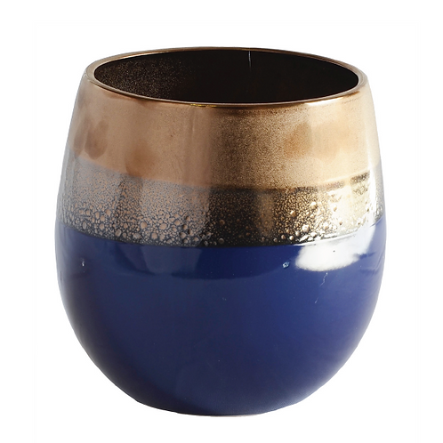 Ombre Vase - Navy & Copper (L)
