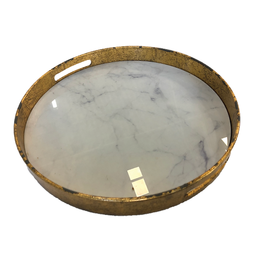 Marble Tray - White & Gold