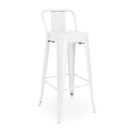 Tolix Low Back Bar Chair - White