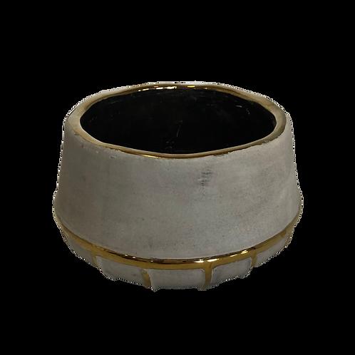 Flat Gold Drip Vase - Large