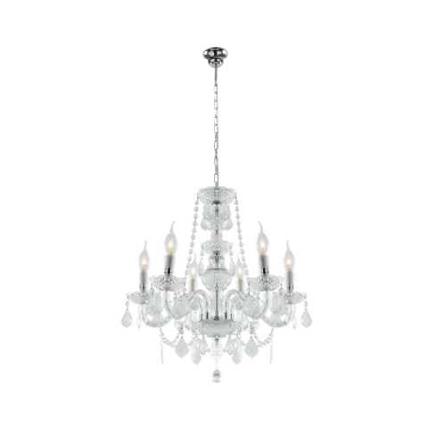 Crystal Chandelier - 6 Arm
