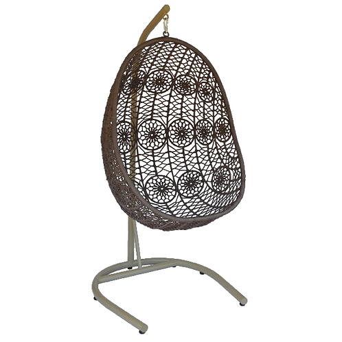 Hanging Pod Chair - Brown