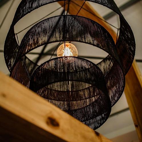 Woven Lamp Shade -Black (three-tier)